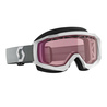 Scott Goggle Hustle Snow Cross white/grey rose