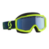 Scott Goggle Hustle Snow Cross yellow/blue blue