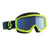 Scott Goggle Hustle Snow Cross yellow/blue blue